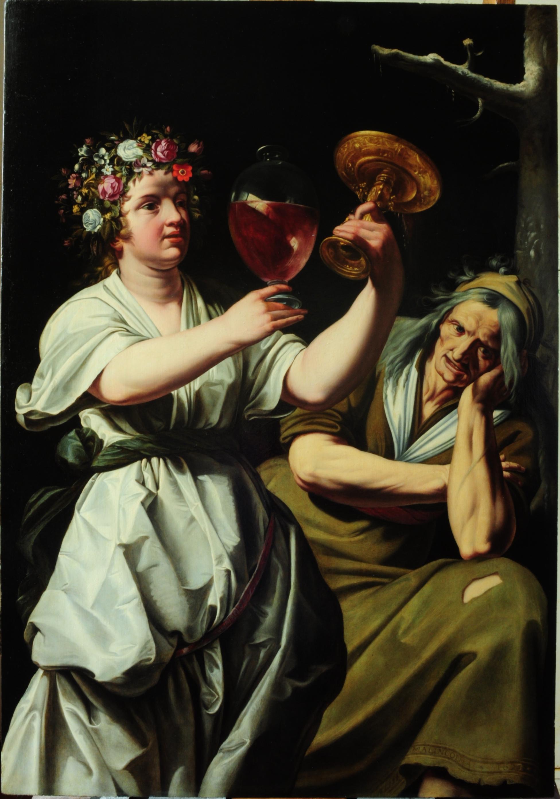 La Joie et Mélancolie, Janssens- musée Magnin. Restauration image 1