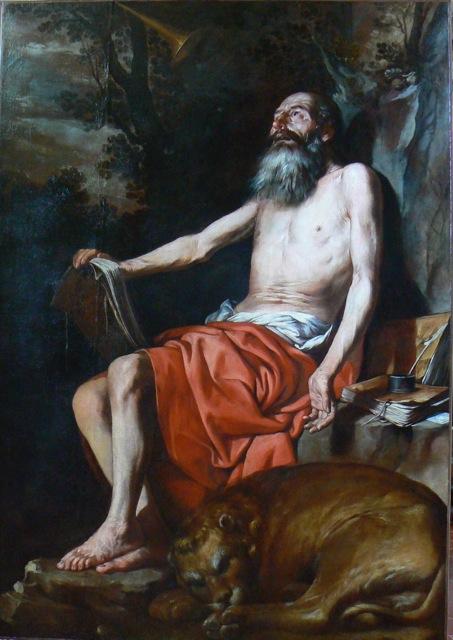 Saint Jérôme, anonyme nordique- musée Magnin